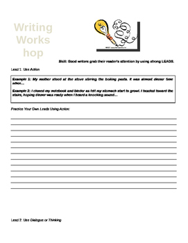 Using Different Leads in Narrative Writing