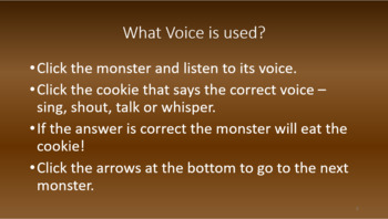 Using Different Voices; an Interactive Listening Game