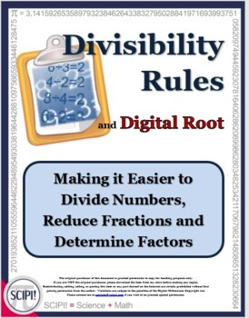 Using Digital Root and the Divisibility Rules to Help Reduce Fractions