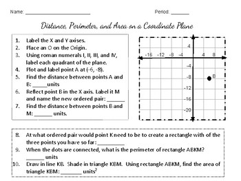 Using Distance on a Coordinate Plane