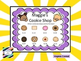 Using Dollars and Cents to Solve Math Problems:  Maggie's Cookie Shop