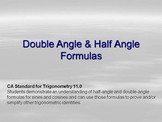 Using Double & Half Angle Formulas