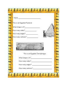 Using Egyptian Artifacts to review Properties of 3D Shapes