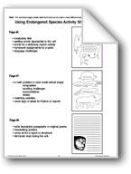 Using Endangered Species Activity Sheet Patterns