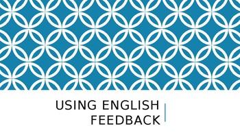 Using English Feedback