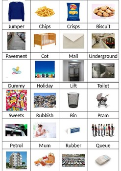 Using English vocabulary