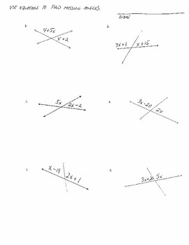 Using Equations to Find Missing Supplementary Angles (common core)