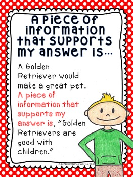 Using Evidence from the Text to Support Your Answers-Poster Set