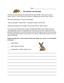 Using Evidence to Determine Theme in Aesop's Fables