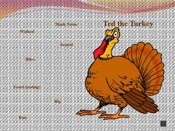 Using Exact and Vivid Words:  A Thanksgiving Story