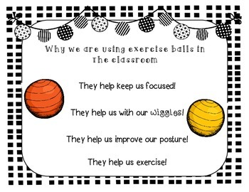 Using Exercise (Yoga) Balls in the Classroom!