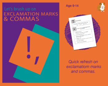 Using Exclamation Marks And Commas (Improve Your English Work Packs) 9-14 years