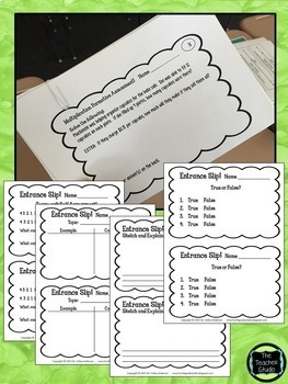 Using Exit and Entrance Slips to Guide Instruction BUNDLE