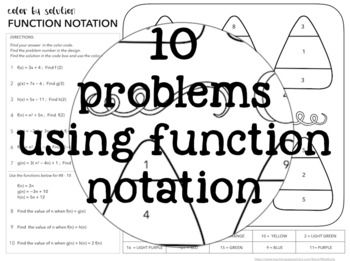 Using FUNCTION NOTATION