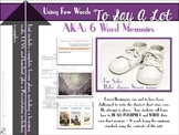 Using Few Words to Say A Lot : 6 Word Memoir Lesson Plan