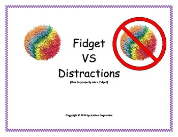 Using Fidgets Social Story