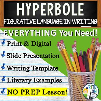 HYPERBOLES - Figurative Language - Middle School
