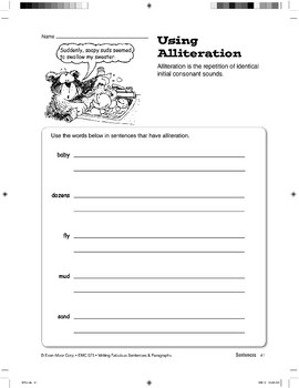 Using Figurative Language: Personification and Alliteration