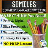 Similes Figurative Language Lesson w/ PPT, Student Worksheet, Lesson Plan