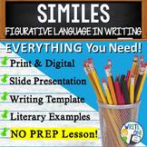 Similes Figurative Language Lesson w/ PowerPoint, Student Worksheet, Lesson Plan