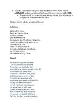 Using Forced Prospective and Basic Poetry