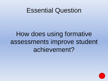 Using Formative Assessment in the Classroom