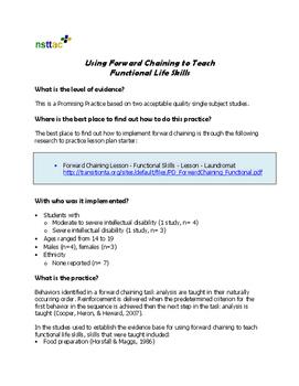 Using Forward Chaining to Teach Functional Life Skills