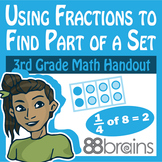 Using Fractions to Find Part of a Set Digital & Printable