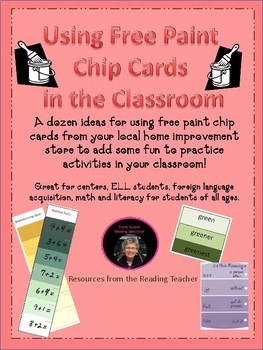 Using Free Paint Chip Cards in the Classroom