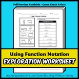 Using Function Notation Worksheet