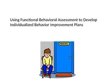 Using Functional Behavioral Assessments