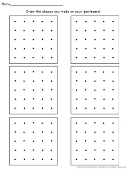 Using Geoboards to make 2D shapes Key Stage One