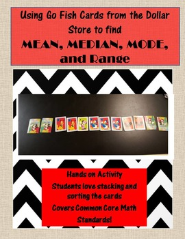 Using Go Fish Cards to teach MEAN, MEDIAN, MODE, and RANGE