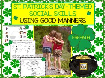 FREEBIE: Using Good Manners St. Patrick's Day Social Skills