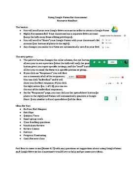 Using Google Forms for Assessment