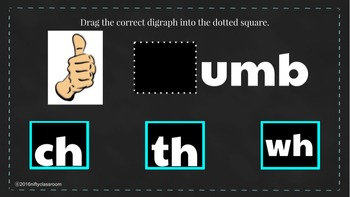 Using Google Slides to learn about ~digraphs: -sh, -th, -wh, -ch, -tch~