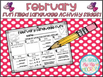 Using Google or Power Point Slides for Fun Filled February Language Activities!