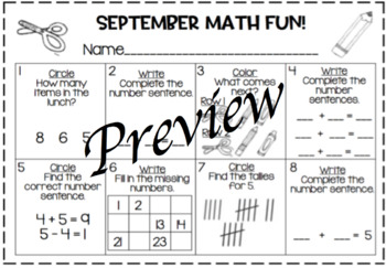 Using Google or Power Point Slides for Fun Filled September Math Activities!