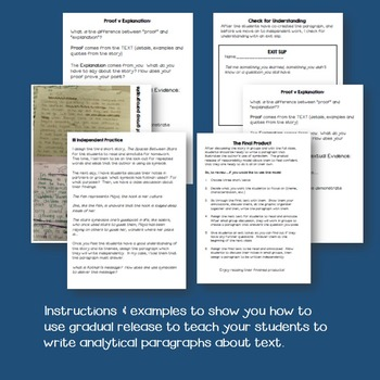 Teach Students to Write Analytically Using Gradual Release of Responsibility