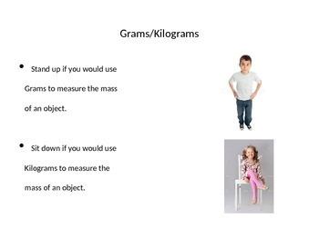 Using Grams/Kilograms