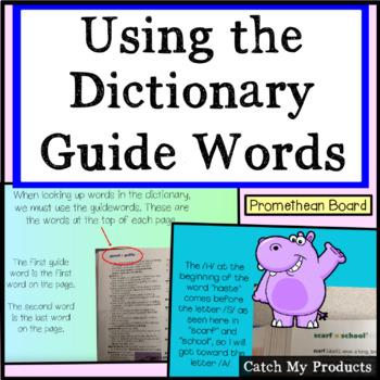 Guide Words For PROMETHEAN Board Use