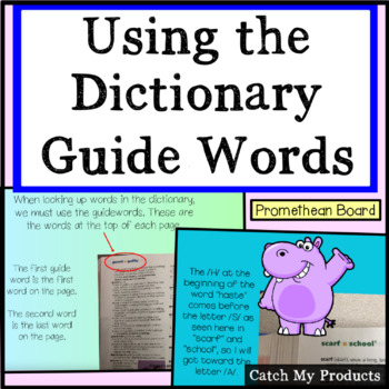 Using Guide Words For the Dictionary For Promethean Board Use