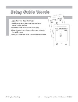 Using Guide Words (computer project)