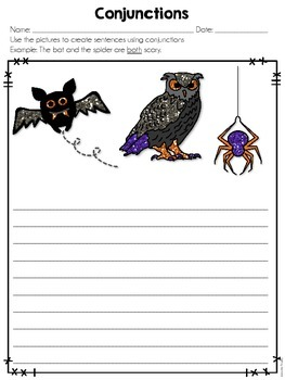 Using Halloween Pictures to Review Literacy and ELA Skills: Common Core Aligned