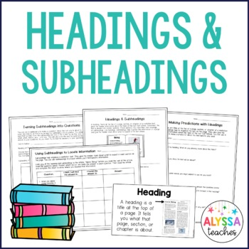 Headings and Subheadings in Nonfiction Text