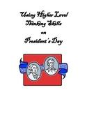 Using Higher Level Thinking Skills on President's Day