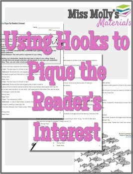 Using Hooks to Pique the Readers Interest - No Red Ink Aligned