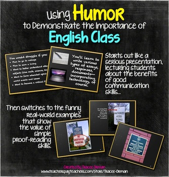 Using Humor to Teach the Importance of English Class PPT