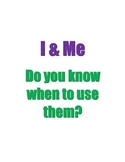 Using I & Me Worksheet