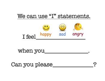 """Using """"I Statements"""" for Responsible, Respectful Communication"""